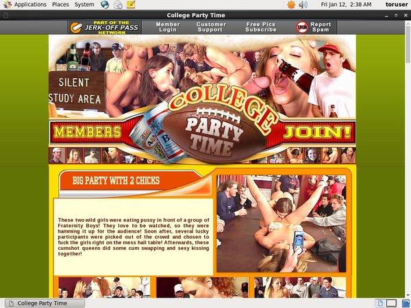 Collegepartytime.com Network Password