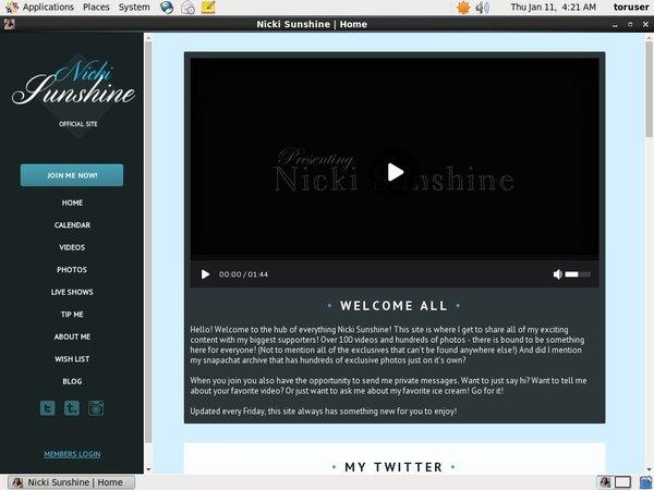 Nicki Sunshine Link Discount